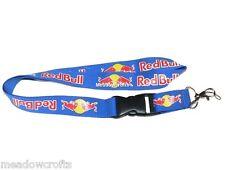 Red Bull Cordón Nueva Luz Azul-Reino Unido Vendedor-Correa de Llavero ID Holder Teléfono del Coche