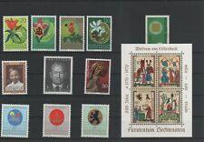 Liechtenstein Jahrgang yearset 1970 postfrisch ** MNH komplett weitere sh. Shop