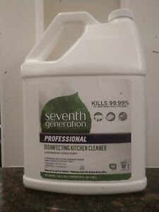 SEVENTH GENERATION Profession. Disinfecting Kitchen Cleaner Lemongrass cit.1 Gal