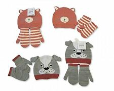 baby hat mit set dog or cat (please msg choice ) 0-12mths