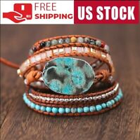 Handmade Unique Natural Stone-Turquoise Boho Bracelet Very beautiful