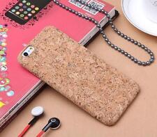 Fashion Wood Grain Natural Cork Soft Phone Case For iPhone 7 7 Plus 6S 6 Plus