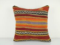 Kelim Kissen Turque Kilim Coussin,Colorful Large Sofa Pillow Cover 18'' X 18''