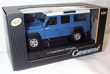 Land Rover Defender 110 LWB Blue 1-24 scale new in Box Opening parts cararama