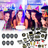 36Pcs 16/18/21/30/40/50/60th Birthday Photo Booth Props Mask Glasses Party Decor