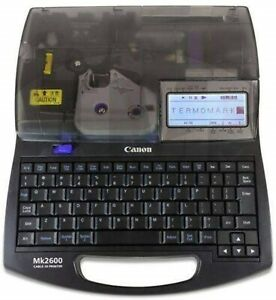 CANON MK2600 Cable ID Printer w/ Tracking NEW