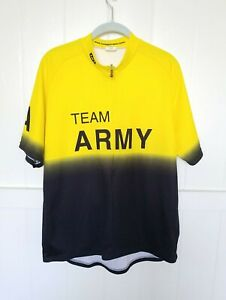 Louis Garneau TEAM ARMY Zip Bicycle Jersey 3XL Made in USA back pockets