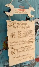 Personalised My Garage Rules Man Cave Shed Hanging Plaque  Sign Gift