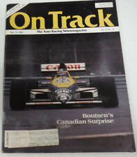 On Track Magazine Boutsen's Canadian Surprise July 1989 080614R