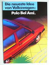 Prospekt Volkswagen VW Polo Sondermodell Bel Ami, ca.1988, 4 Seiten