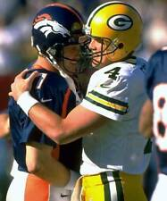 GLOSSY PHOTO PICTURE 8x10 Brett Favre And John Elway Green Bay Packers