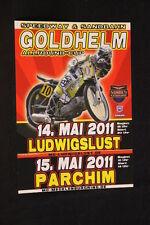 Card / Flyer Speedway & Sandbahn Goldhelm Allround-Cup 14. Mai 2011 (HW)