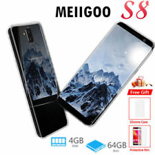 6.1''MEIIGOO S8 Smartphone 4+64GB 4G Android 7.0 8Core 13MP 3Cam 2SIM Cellulare