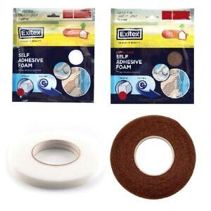 Self Adhesive Foam Strip Seal Draught Excluder Fits Doors & Windows By Exitex