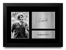 More details for graham price wales gift idea signed autograph a4 photo print for rugby fans