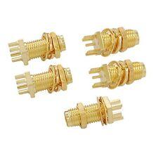 5pcs Fin Lancement PCB Monture cloison SMA femelle coaxial RF Connecteur WT