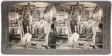 Keystone Stereoview Making Wood Pulp at Paper Mill, NORWAY 1910's Education Set