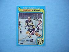 1979/80 O-PEE-CHEE NHL HOCKEY CARD #79 WAYNE CASHMAN EX/NM NM SHARP!! OPC 79/80