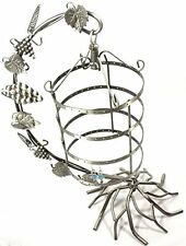 Jewelry Display Tree Earring Holder Necklace Hang Organize Stand BirdCage Silver