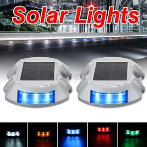Solar Power 6LED Road Pathway Stair Dock Light Driveway Lighting Path Lamp  K