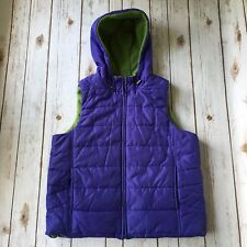 Jones New York Vest Sport M 8 10 Puffy Fleece Quilted Sleeveless Jacket Purple