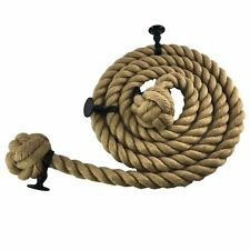 Natural Hemp Bannister Rope c/w 4 Black Fittings Select Your Options