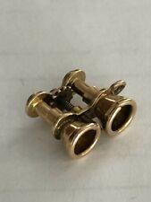 14K Yellow Gold Binoculars Charm