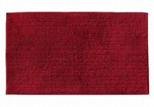 Reversible Rich Red Plush Pile Throw Rug 17x24 Cotton Bath Mat