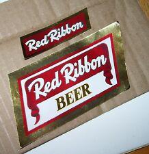 Red Ribbon Beer~Mathie-Ruder Brewing~Wausau Wisconsin~Beer Bottle Label~8 Oz