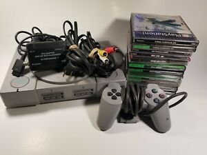 Playstation One PS1 Complete Console Bundle With 12 Games Final Fantasy 7 Used