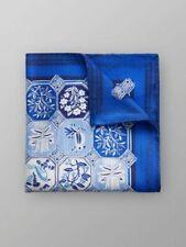 ETON BLUE PRINT POCKET SQUARE