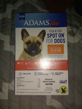 New listing Adams Plus Flea And Tick Spot On For Dogs, Md Dog 15-30 Pounds, 1 Month Supply