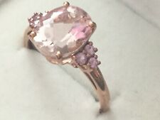 9ct rose Gold morganite and pink sapphire qvc ring  not scrap