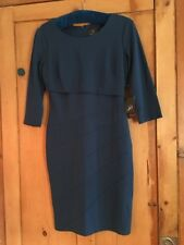 Adrianna Papell Blue jersey Panel dress BNWT size uk 8 RRP £140 Wedding Evening