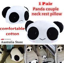 Cute Panda Car Seat Head Rest Cushion Headrest Relax Pillow Neck Rest Pillow