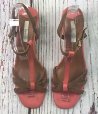 "Boden Leather Sandals Open Toe Strappy Heels Women's Size US 8 EU 39 2.5"" Heel"