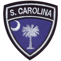 South Carolina Flag Crest Embroidered Patch