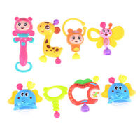 8Pcs Newborn Baby Lovely Hand Jingle Shaking Bell Ring Rattles Baby Toy Ax