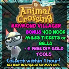 GET RAYMOND | ANIMAL CROSSING NEW HORIZONS | +BONUS 400 NMT / GOLD | SAME HOUR