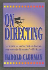On Directing by Harold Clurman Paperback How-to-Book for Stage Play Production