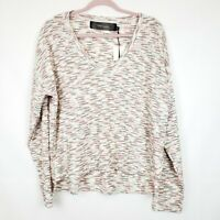 Code Mode Women's blouse Sweater Pullover Raw Hem NWT Size Large