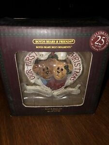 Boyds Beary Best Ornaments Celebrate 25 Yrs Nib Collectible Christmas Our First