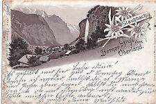 I 87-polvere Bach saluto dal BERNER Oberland, precoce lito, 1899 GLF.