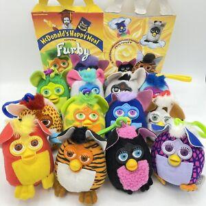 Mcdonalds 2000 VFurby soft key chain toys COMPLETE Set of 12 Stocking Stuffers
