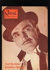 Fred Beckman Canadian Genii Magicians Magazine Jan1966-table of contents scanned