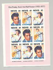 Nevis #776 Elvis Presley 1v M/S of 9 Imperf Chromalin Proof