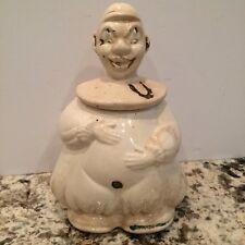 Vintage American Bisque Lucky Horseshoe Clown Cookie Jar 1940's
