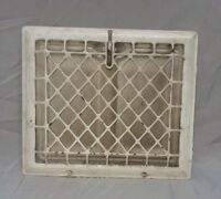 Antique Stamped Steel Wall Heat Grate Register Vent Design 12 x 10 Vtg 117-18F