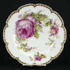 """Haviland Limoges Christmas Rose & Holly Dinner Plate, Antique Double Gold 9 3/4"""""""