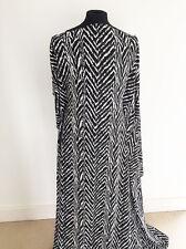 Impreso Negro/Blanco Cebra Diseño Inspirado En Tela Con Textura estiramiento jersey
